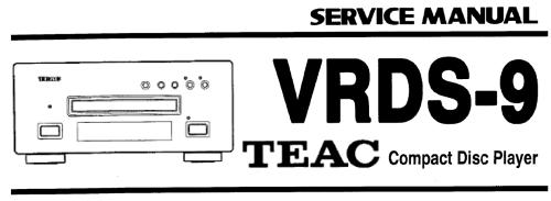 Инструкция по эксплуатации проигрыватель компакт-дисков TEAC VRDS-9