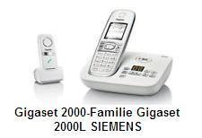 зарядная подставка для переносных телефонов серии Gigaset 2000-Familie Gigaset 2000L SIEMENS