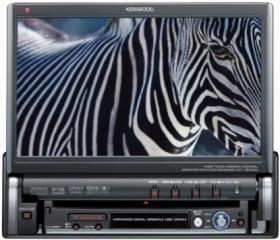 Инструкция по эксплуатации монитор автомобильный с DVD ресивером Kenwood KVT-727DVD.