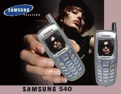 Краткое руководство для пользователя телефон Samsung 540.
