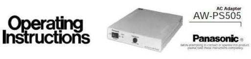 Руководство по эксплуатации сетевой адаптер Panasonic AW-PS505