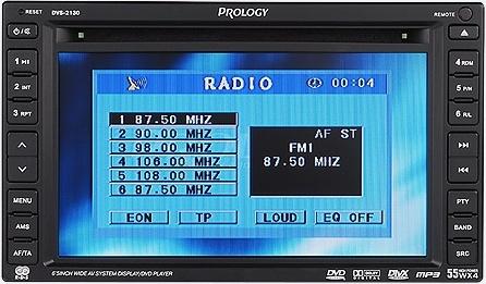 Руководство по эксплуатации FM/УКВ/DVD-ресивер Prology DVS-2130