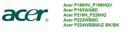 Руководство по эксплуатации монитор Acer P186HV_P196HQV, Acer P193WABD, Acer P216H_P226HQ, Acer P223WBBD, Acer P224WBBMUZ BK/BK