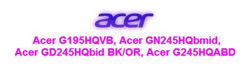 Мануал на русском языке мониторы Acer серии G