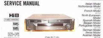 Инструкция по эксплуатации видеомагнитофон SONY EV-T1VC