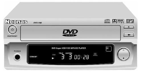 Инструкция по эксплуатации переносной проигрыватель DVD/VCD/CD/CD-R/MP3 Neonas By Prology DVD-168
