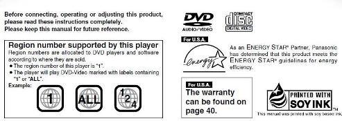 Руководство пользователя домашний кинотеатр Panasonic SC-ST1 DVD System