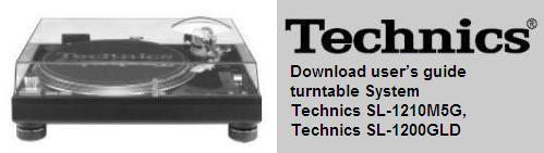 Руководство по эксплуатации проигрыватель виниловых пластинок Technics SL-1210M5G, Technics SL-1200GLD