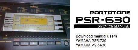 Инструкция по эксплуатации синтезатор звука YAMAHA PSR-730 и YAMAHA PSR-630
