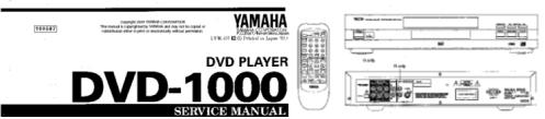 Инструкции по эксплуатации проигрыватель DVD YAMAHA DVD-1000