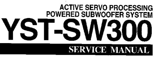 Руководство по эксплуатации активный сабвуфер с сервообработкой YAMAHA YST-SW300
